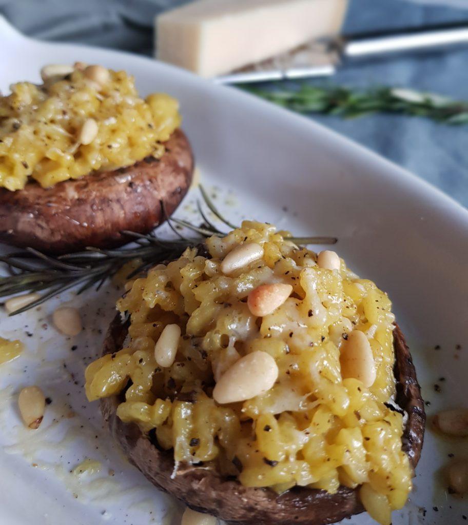 Portobello met risotto