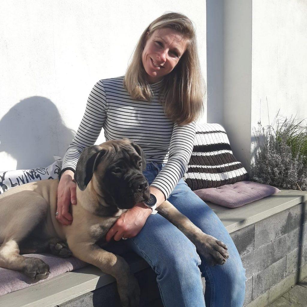met de hond