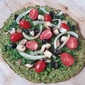 gezond recept voor pizza